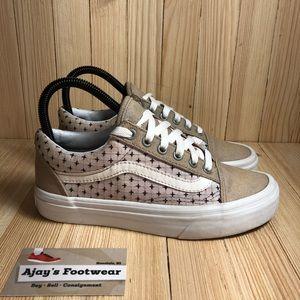 Vans Brown Pink Stars Women's Skate Shoes 614992